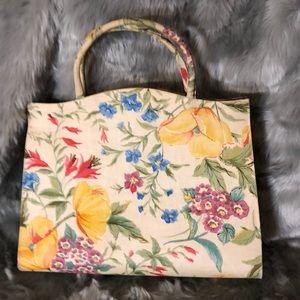 Handbags - Vintage floral satchel